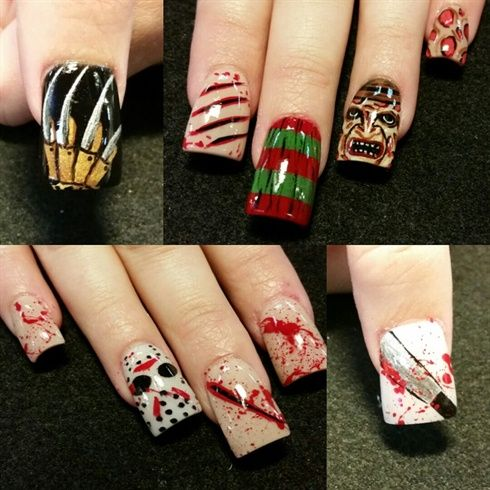 Freddy Vs Jason by Oli123 from Nail Art Gallery   – stuff and things