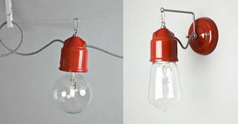 Novecento in a flaming italian red #Toscot #lighting #handmade #madeinitaly