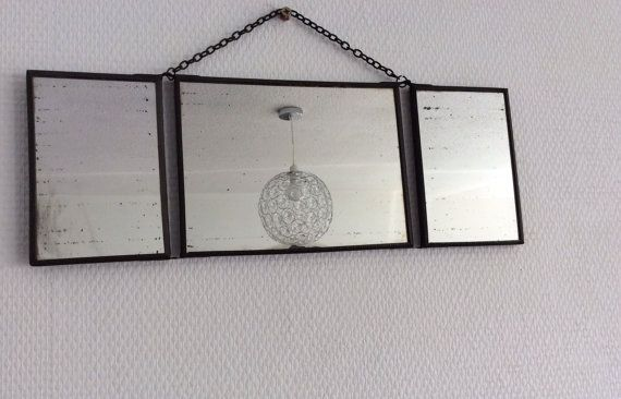 Ancien miroir de barbier tryptique ann es 50 miroirs for Miroir annees 50