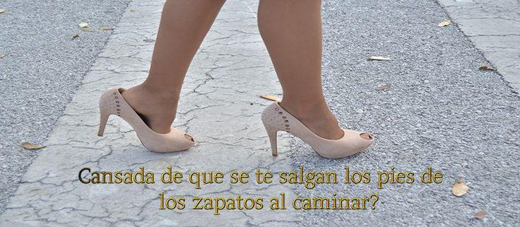 cansada de que se te salgan los pies de los zapatos al caminar?