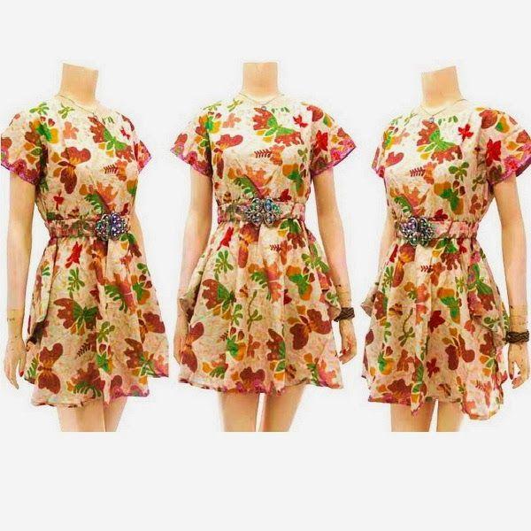 Dress Batik Modern Solo KODE : DB 3642