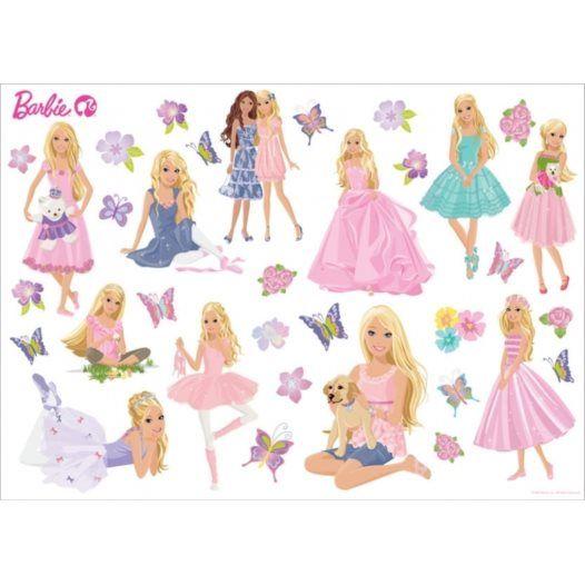 Disney - Barbie Wallies Wallstickers