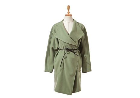 Bow Belted Wrap Coat