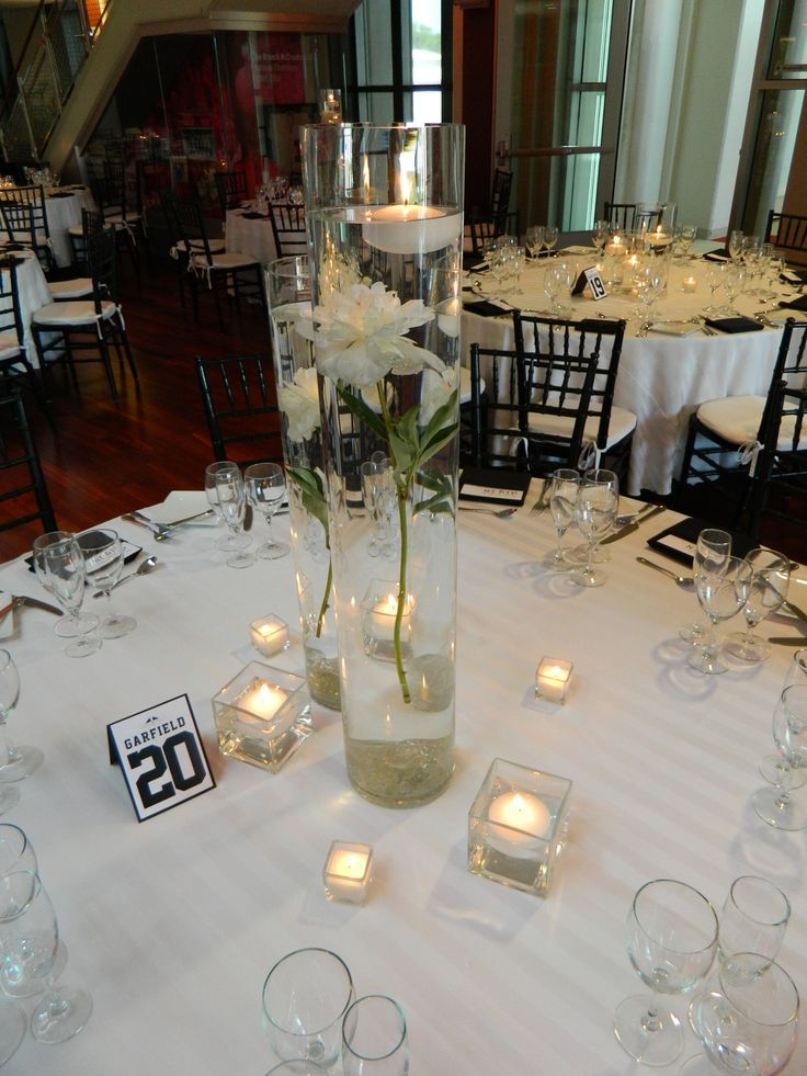 The 25 best cylinder vase centerpieces ideas on pinterest for Wedding reception centrepieces
