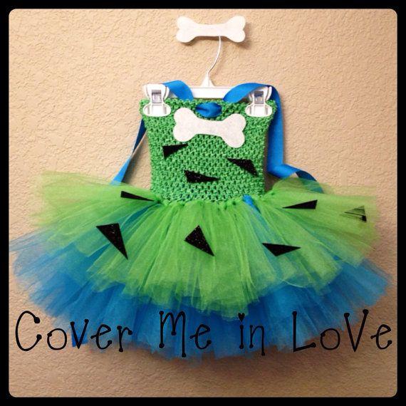 Pink Pebbles inspired Flinstones tutu dress sz 9 by CoverMeInLoVe