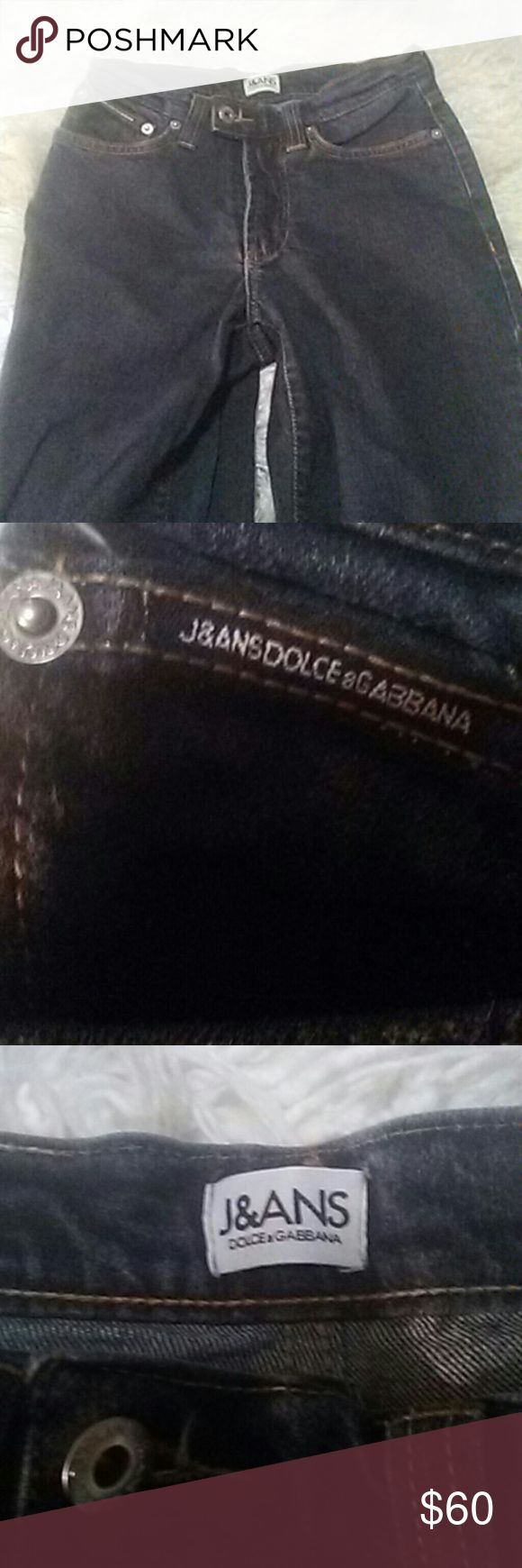 Dolce Gabbana jeans These a beautiful Dolce Gabbana jeans 100% authentic bought them at Nordstrom's a few years back only wore them a couple times they're very beautiful and they're not D&G the cheaper ones the Dolce & Gabbana the more expensive ones they are a size 26 European and they are in fantastic condition they look new. Dolce & Gabbana Jeans Straight Leg