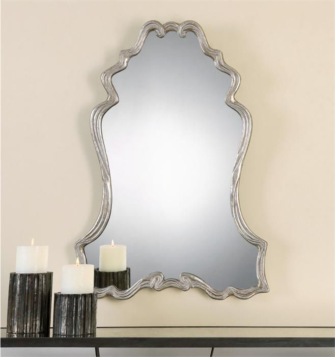 uttermost andria silver leaf mirror x in artfully shaped and designed to shimmer the uttermost andria silver leaf mirror x in