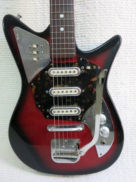 Vintage 1960s Teisco St. George Guitar Lo-FI Guitar Odd Shape Shaggs Garage Rocker   Reverb