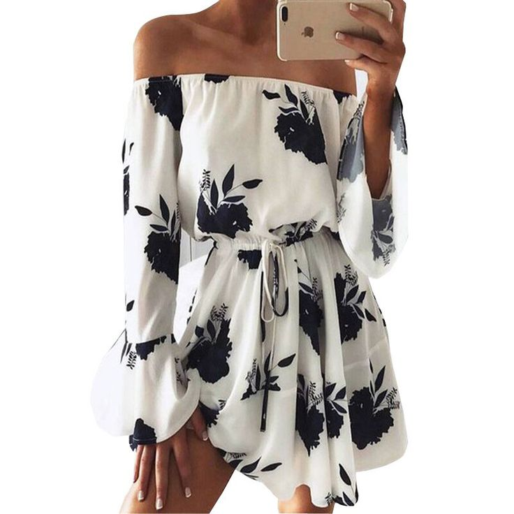 #aliexpress, #fashion, #outfit, #apparel, #shoes #aliexpress, #Ermonn, #Women, #Summer, #Beach, #Floral, #Dress, #Loose, #Printing, #Shoulder, #Flare, #Sleeve, #Empire, #Flash, #Dress