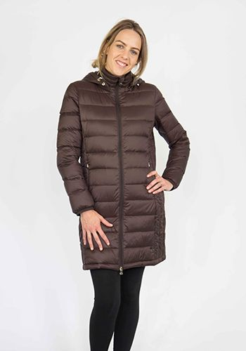 Moke Long Quilted Jacket - Espresso – Sally Anne