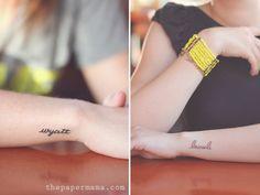 Names in script - 13 Inspiring Tattoos for Moms