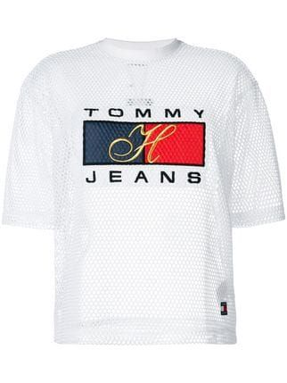 08ad4a4b Tommy Jeans logo T-shirt | T-shirts in 2019 | Shirts, T shirt logo ...