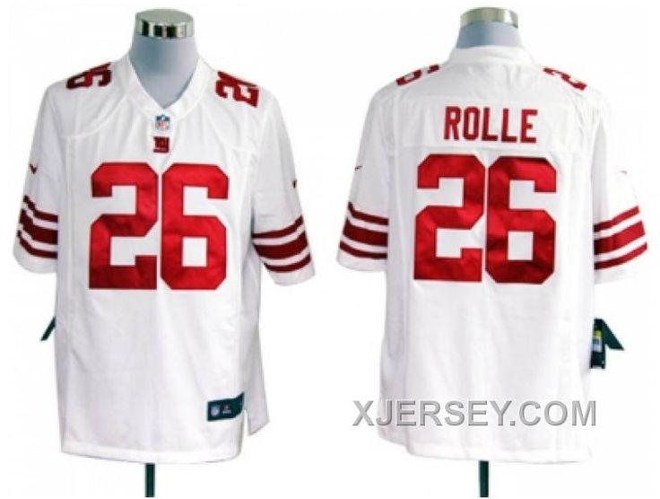 http://www.xjersey.com/cheap-nike-new-york-giants-26-rolle-white-game-jerseys.html CHEAP NIKE NEW YORK GIANTS #26 ROLLE WHITE GAME JERSEYS Only $38.00 , Free Shipping!