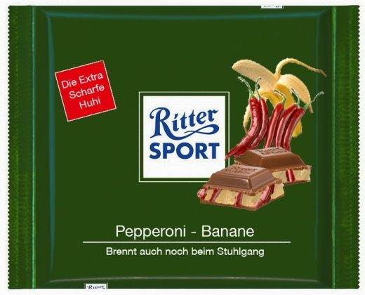 RITTER SPORT Fake Schokolade Pepperoni-Banane