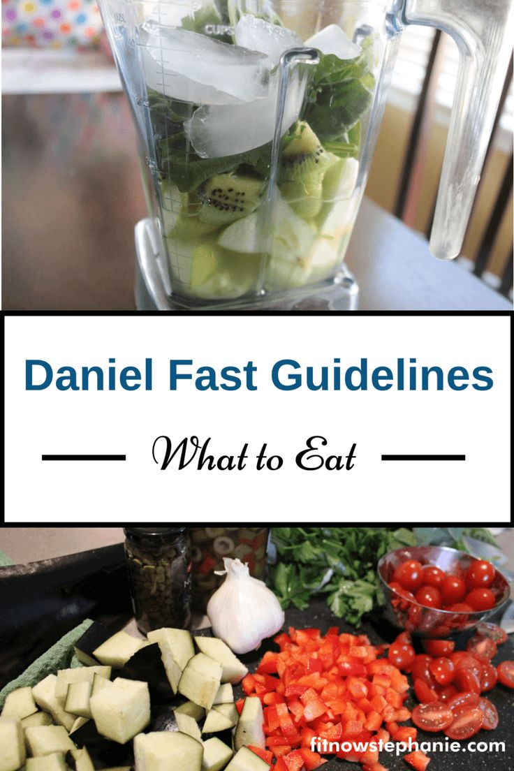 Guidelines for following a Daniel Fast including a list of foods to eat and not eat.