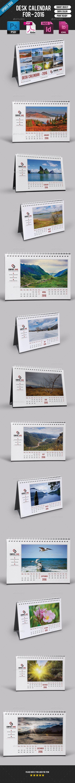 Desk Calendar 2016-V07 - Calendars Stationery