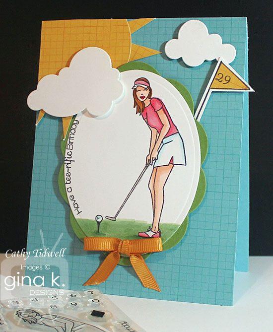 This uses Debbie's new diva set, Golfing Diva.