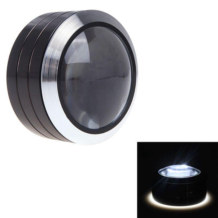 Cute Vergr erungsglas X Papier Dr cken LED Licht Lupe Leselupe Metall Taschen mm eBay