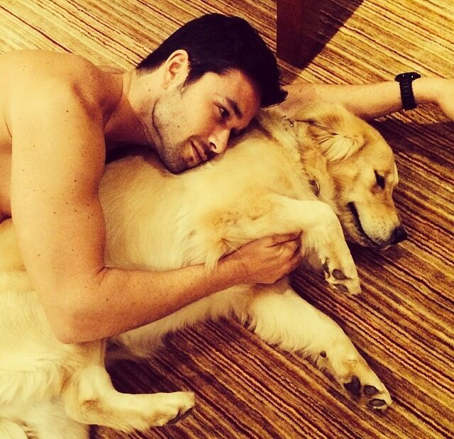 Sergio Marone • What is it with boys and dogs? Cutest combination ever! ❤️