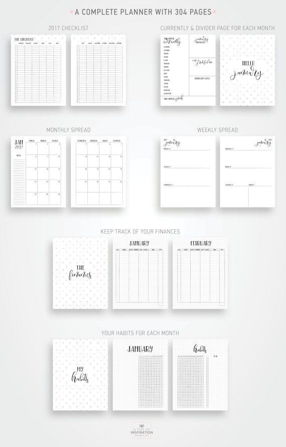 Gorgeous and complete planner for 2017