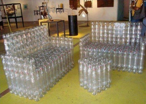 Geniales Ideas para reciclar botellas de plastico l Muebles de plástico