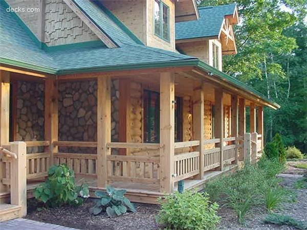 310 best images about dream house on pinterest montana for Log cabin porches and decks