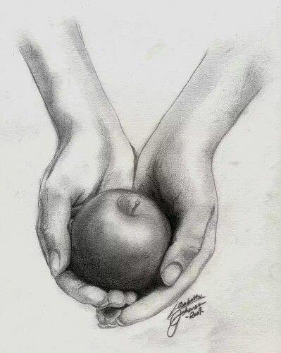 Sketch | apple in hand