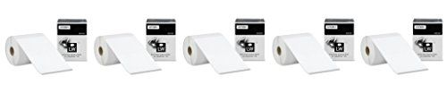 DYMO LW Extra-Large Shipping Labels wMsDIo for LabelWriter Label Printers, White, 4'' x 6'', 5 Pack