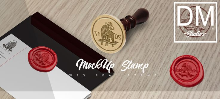 Mockup Wax seal stamp Design