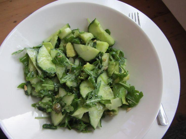 Recept: Een groene salade met of zonder erwten scheuten (crazy pea) Vegetarisch - Veganistisch - Glutenvrij