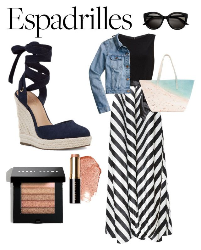 """""""Espadrilles"""" by esteadman-1 on Polyvore featuring Nine West, Gina Bacconi, Paige Gamble, J.Crew and Bobbi Brown Cosmetics"""