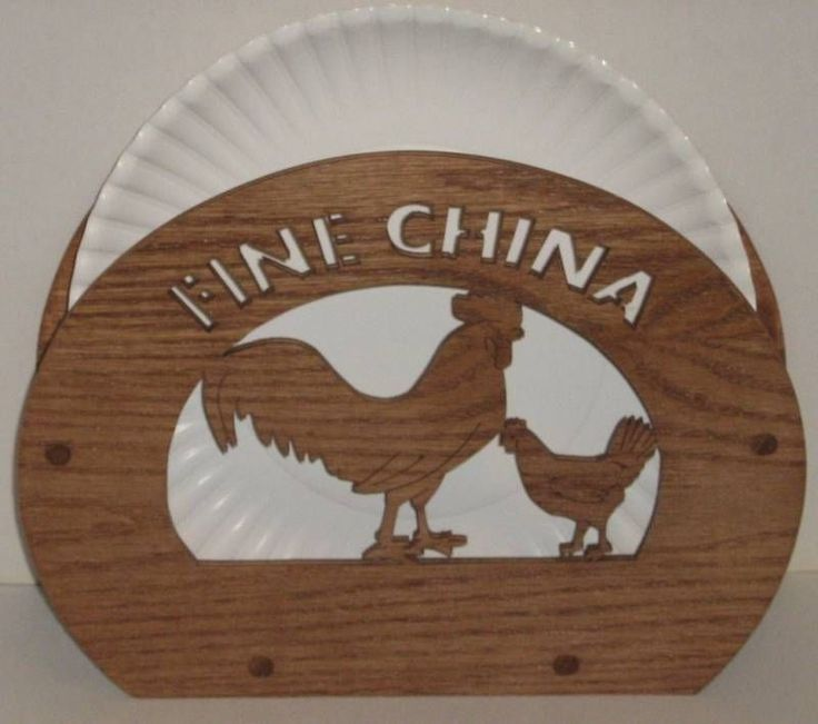 Decorative Oak Wooden Rooster Paper Plate Holder Handmade & 100+ best Rooster Plates images by Maria Gauld (Board #3) on ...