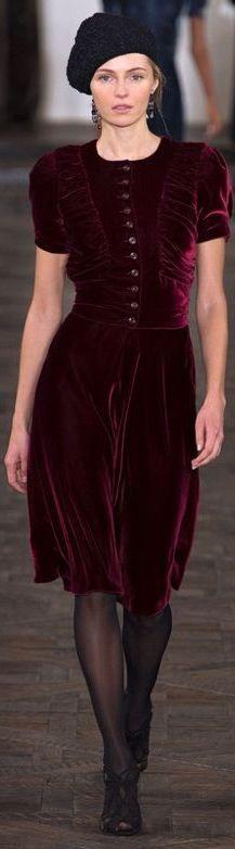 Ralph Lauren Burgundy Velvet