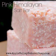 Apple Valley Natural Soap - Pink Himalayan Salt Bar, $8.50 (http://www.applevalleynaturalsoap.com/pink-himalayan-salt-bar/)
