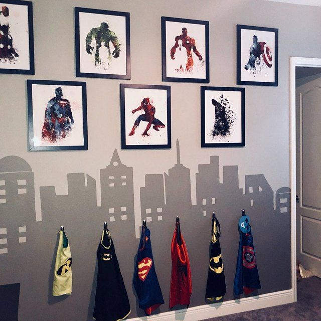 Superhero Decor Super Hero Wall Art Superhero Room Decor