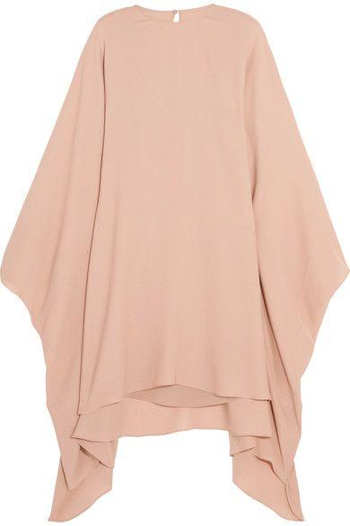 Valentino - Stretch-silk Georgette Mini Dress - Neutral - IT44
