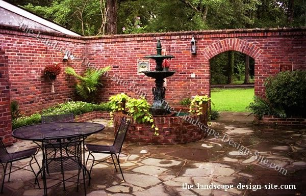 best 25 brick courtyard ideas on pinterest patio On walled courtyard garden design