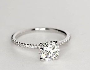 Yupp! http://www.bluenile.com/build-your-own-ring/petite-micropave-diamond-ring-platinum_48630?track=product