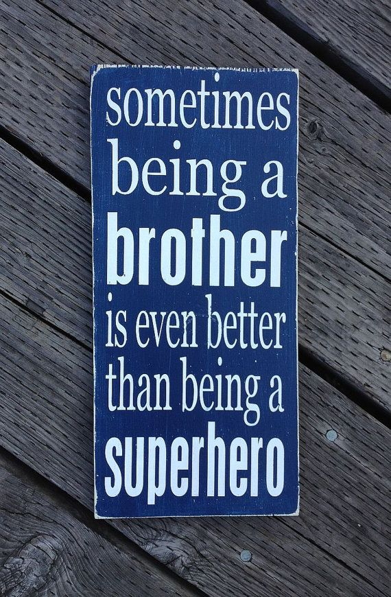 Brother Superhero Sign  Hand Painted Wood by sugarcoatedsentiment, $25.00
