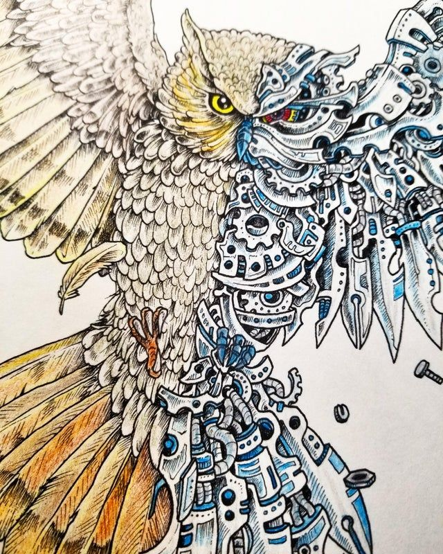 Pin by Tiffany Rawson on 藝術 in 10  Ink art, Prismacolor, Art