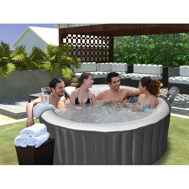 Spa gonflable rond 180 x 70 cm cartouche filtration incluse - Plein air - GiFi