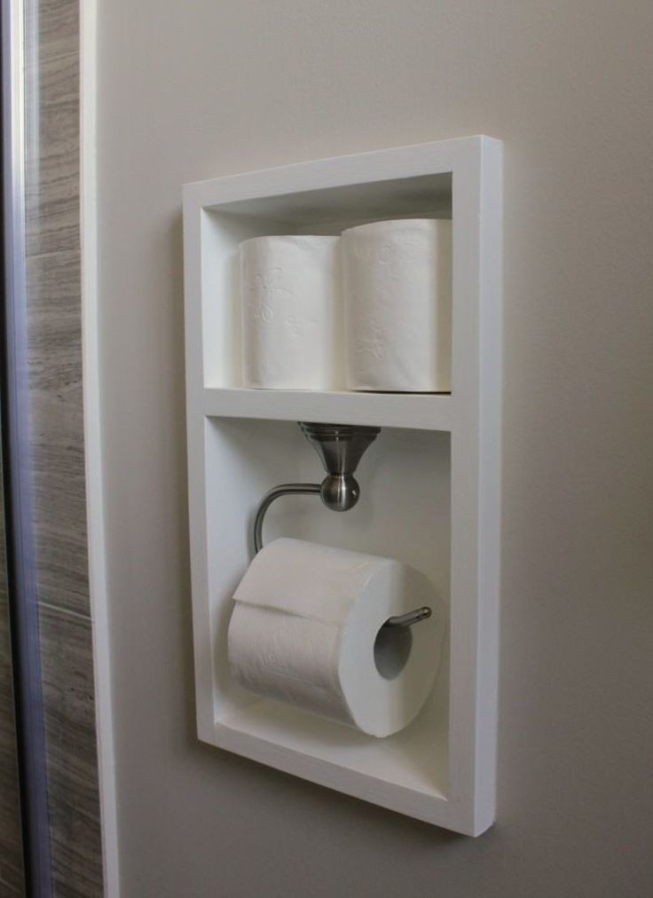Recessed Toilet Paper Holder |   15 Totally Unusual DIY Toilet Paper Holders
