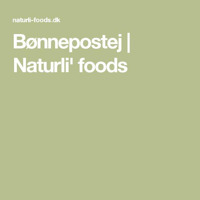 Bønnepostej | Naturli' foods