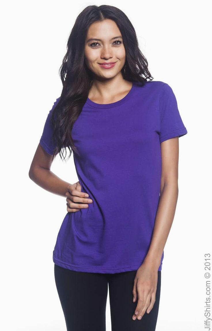 Anvil 880 purple ladies lightweight tshirt wholesale