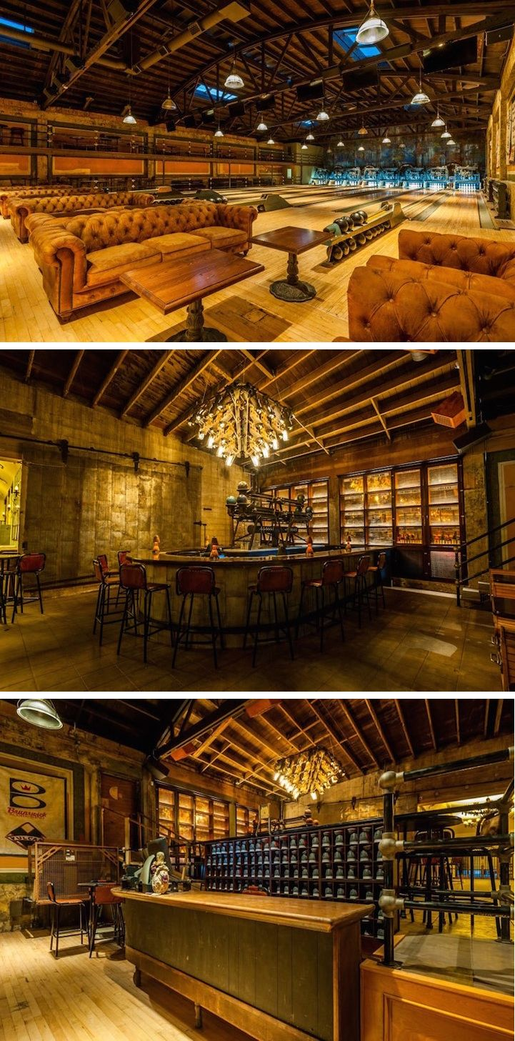 best 20 steampunk bar ideas on pinterest industrial bar sinks vintage 1927 bowling alley is restored in spectacular steampunk decor