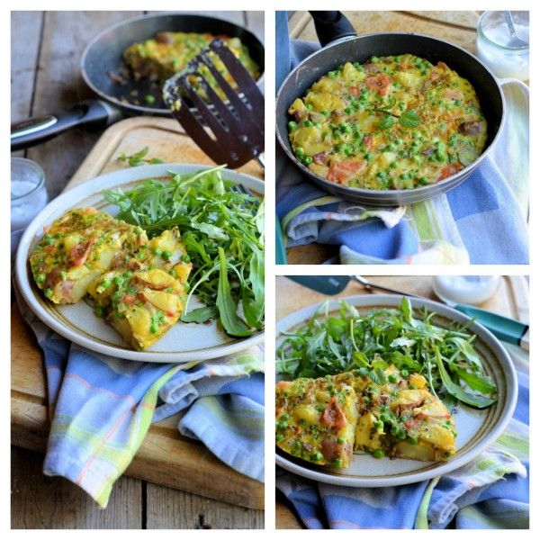 Low-Calorie Minted Pea & Vegetable Frittata – 200 calories
