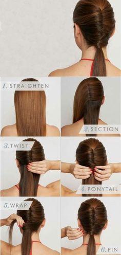 Peinados fáciles cabello largo trenzado cola de caballo