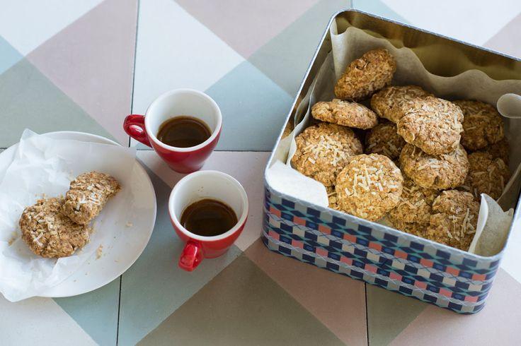 Coconut oat biscuits recipe : SBS Food