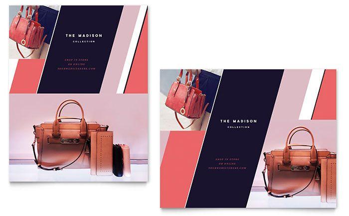 Designer Handbag Sale Poster Template Design by StockLayouts