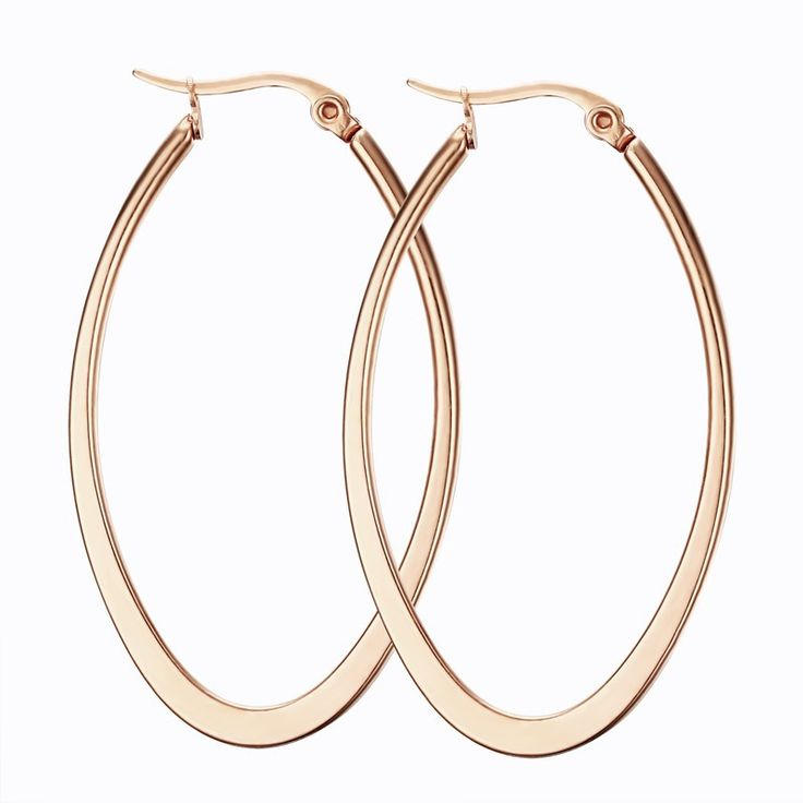 high polished Titanium steel stud earring black Gold plating woman fashion circle earrings 4 styles jewelry wholesale
